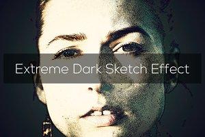 Extreme Dark Sketch Effect
