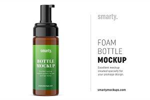 Foam bottle mockup / amber
