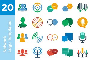 20 Logo Network Templates Bundle