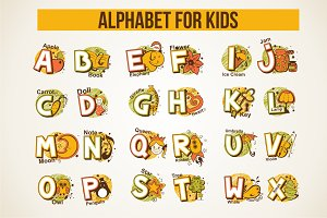Cute alphabet for children's.