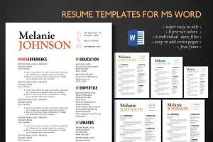 Simple 3 in 1 Word resume templates
