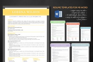 Modern 3 in 1 Word resume bundle