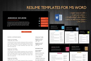 2 in 1 Word resume bundle