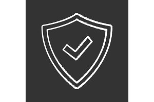 Security approved chalk icon