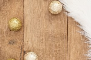 Christmas background. Gold Christmas