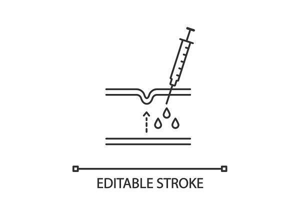 Neurotoxin injection linear icon