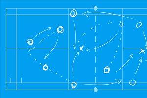 Volleyball sport field plan