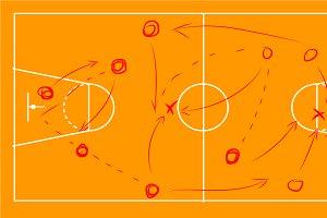 Basketball sport field plan