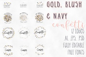 Gold, Blush & Navy Logos