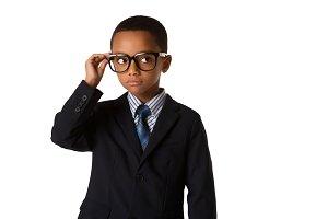 Little boy with eyeglasses