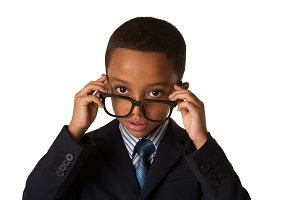 Elegant boy with eyglasses