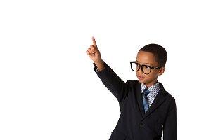 Elegant little boy with eyeglasses