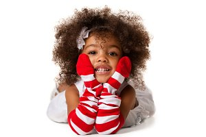 Portrait of a preschool child girl