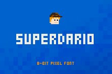 SuperDario Pixel Font by  in Display Fonts
