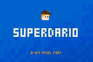 SuperDario Pixel Font