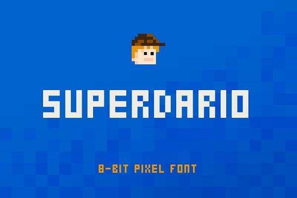 Display Fonts: linefab - SuperDario Pixel Font