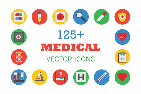 125+ Medical Vector Icons