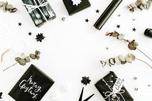 Christmas composition frame