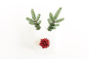 Christmas deer symbol