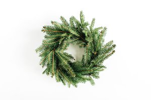 Christmas fir wreath