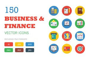 150 Business and Finance Vector Icon