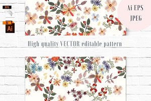 Floral vector seamless pattern