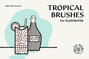 Tropical Brushes for Illustrator
