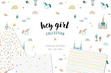Seamless patterns for girls by  in Patterns