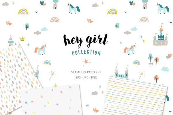 Graphic Patterns - Seamless patterns for girls