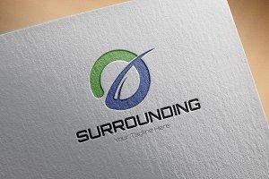 Surrounding Logo Template