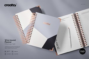 Wire-bound Planner Mockup Set