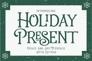 Intro 25% Off- Holiday Present Fonts