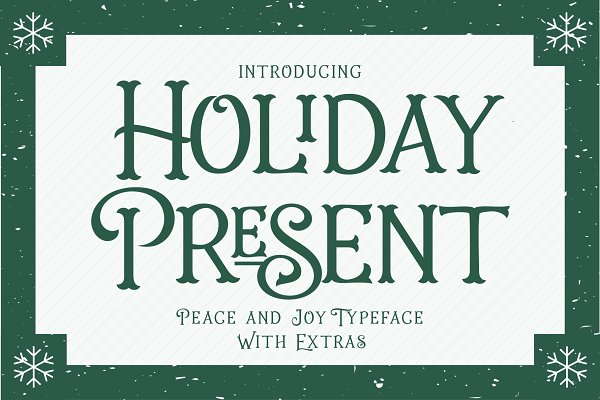 Display Fonts: 50Fox - Intro 25% Off- Holiday Present Fonts