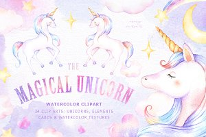 The Magical Unicorn Watercolor Set