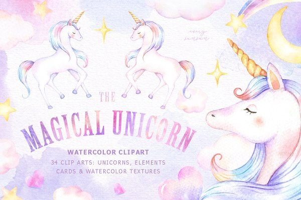 The Magical Unicorn Watercolor Set