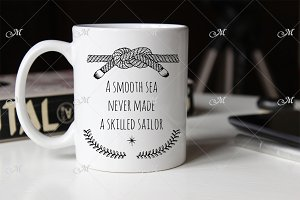 Sailor White Mug Mockup. PSD Smart