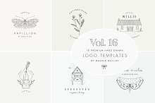 Feminine Premade Logo Bundle Vol. 16 by  in Logos