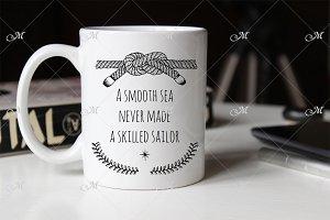 Sailor Mug Mockup. JPEG