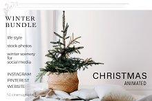 CHRISTMAS ANIMATED BUNDLE. 100+
