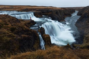 Reykjafoss, beautiful waterfall