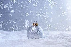 Christmas white scene