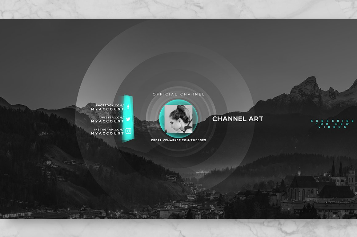 10 Youtube Channel Art Banners vol.7