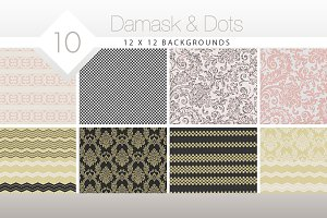 Damask & Dots High Res Backgrounds