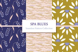 Spa Blues Pattern Collection