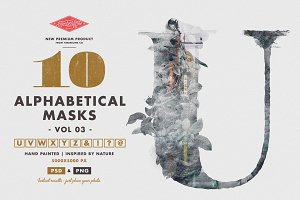 10 Alphabetical Masks Vol 03
