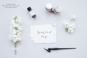 Floral calligraphy mock up