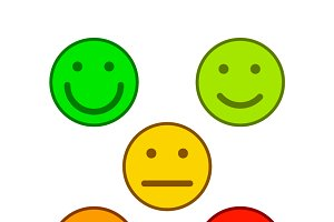 Emoticons for rate of satisfaction
