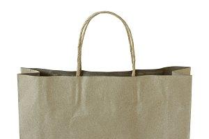 close up brown paper bag