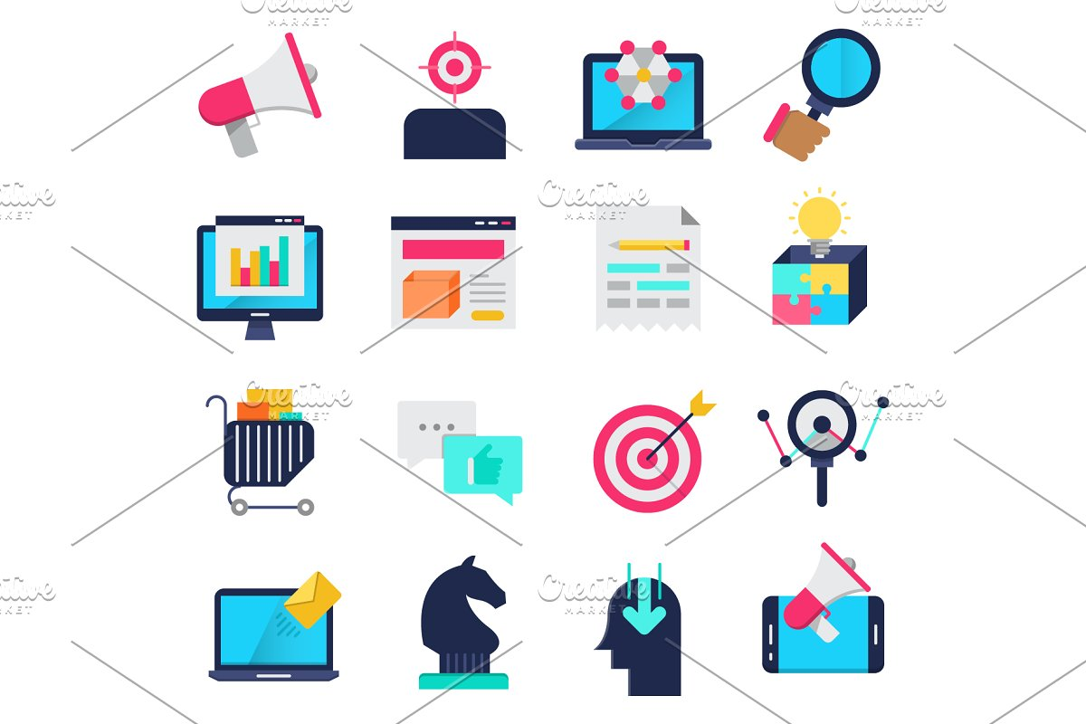 Marketing icons set in Graphics - product preview 8