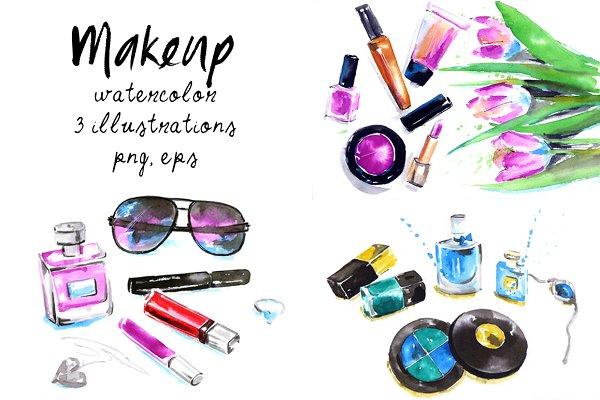 Makeup & Cosmetics illustrations